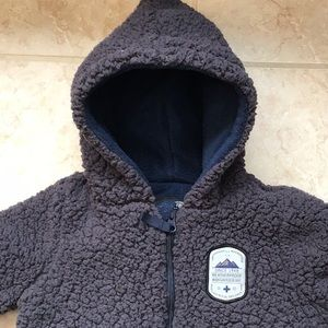 Infant One Piece Sherpa Style Jacket